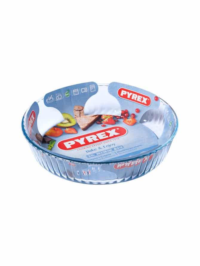PYREX FLUTED FLAN DISH 28CM BAKE & ENJOY 818B000/6146