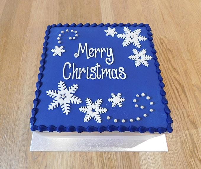 Blue Snowflake Cake