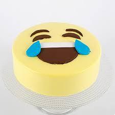 HaHa Emoji Semi Fondant Chocolate Cake
