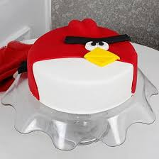 Angry Bird Fondant Chocolate Cake