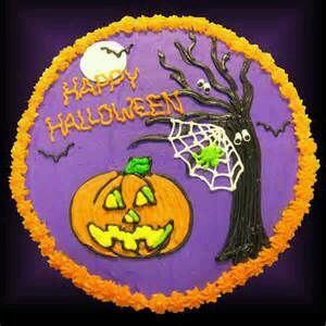 Happy Halloween Round Shaped Cake