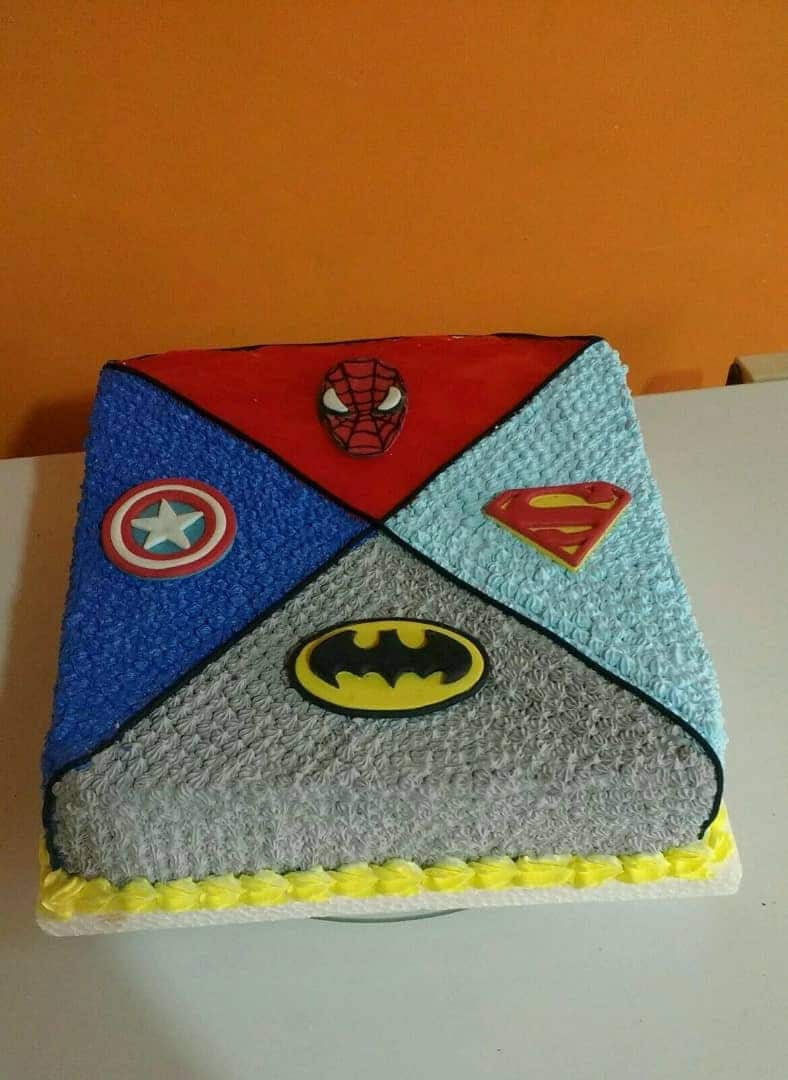Square Characters Logo Cake