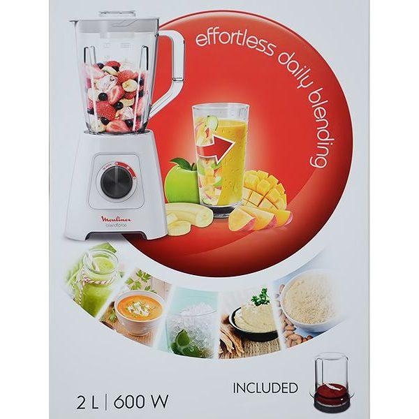 Moulinex Blender 600W Facilic Blender/Liquidizer 1.5 Ltrs.+ Grinder-LM422127+Mill-