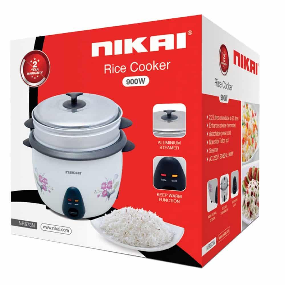 Nikai Rice Cooker 2.6L 850W NR673N