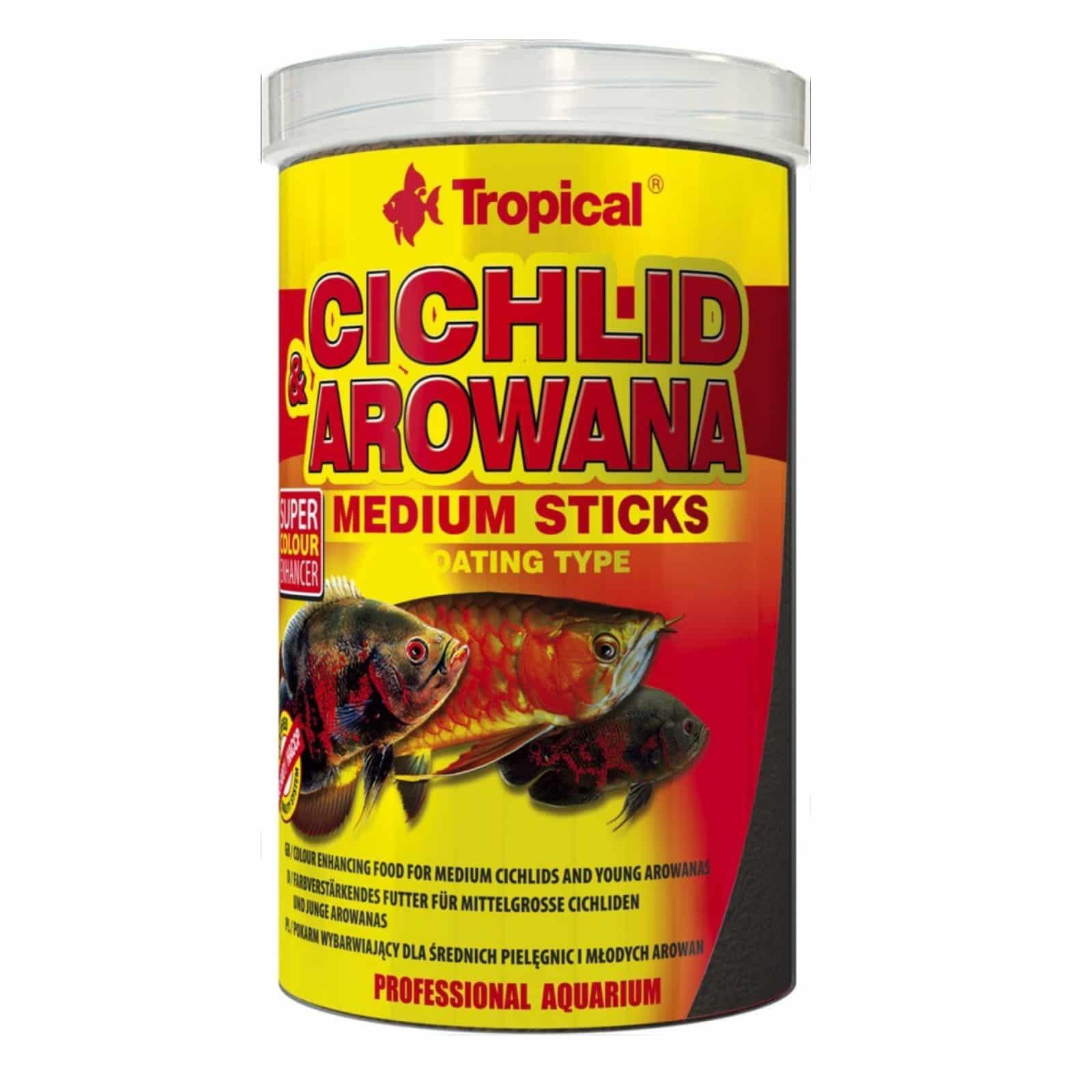CICHLID & AROWANA MEDIUM STICKS 1000ML/360G