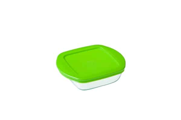 PYREX COOK & STORE SQUARE DISH WITH LID 0.35L 210P000/5046