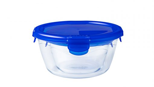 287PG000 288Pg000 Cook Go Round Unpacked LD 510x289 - PYREX COOK & GO ROUND DISH WITH LID 19CM 288PG00/7046