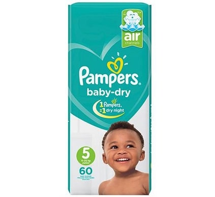 Pampers Baby-dry (Size 2 – 5) – 3 pack jumbo packing