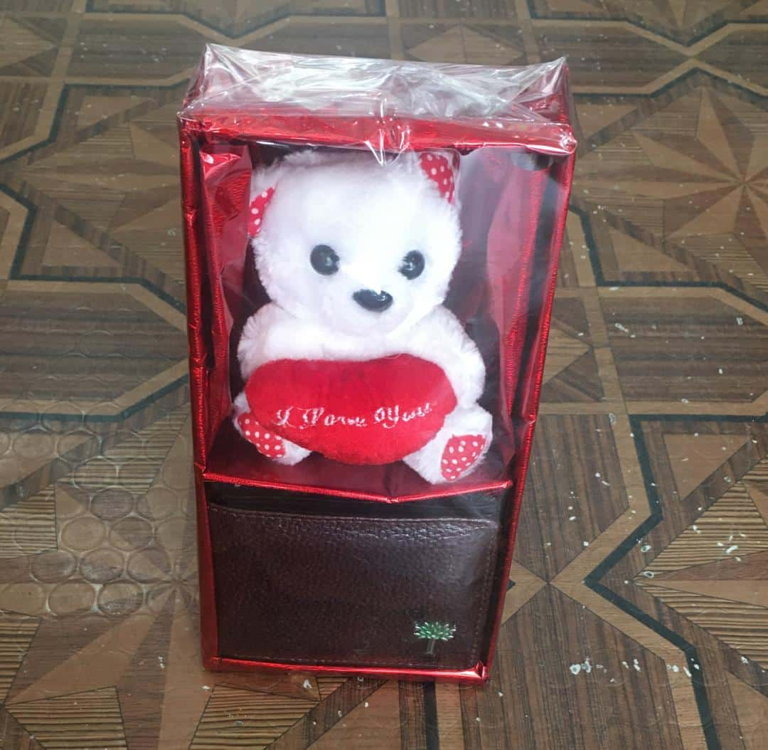 TEDDY BEAR WITH WALLET FOR HIM