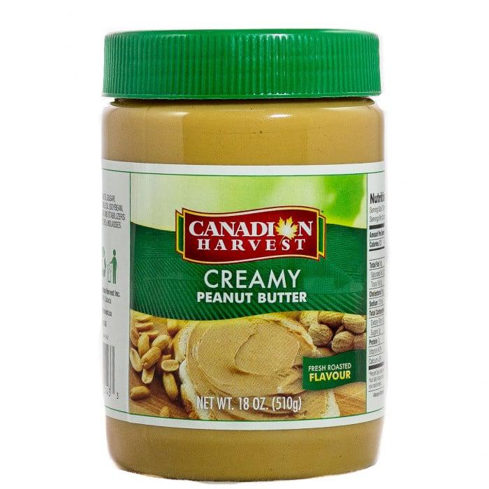 Canadian Harvest Peanut Butter Creamy Jar 510g