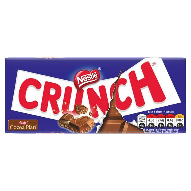Nestle Crunch Milk Chocolate Bar 100g