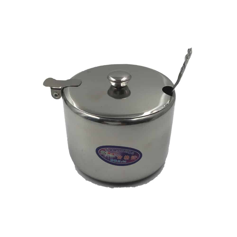 NADSTAR2 SUGAR POT STAINLESS STEEL WITH SPOON C01571