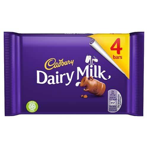 Cadburys Dairy Milk 4 Pack