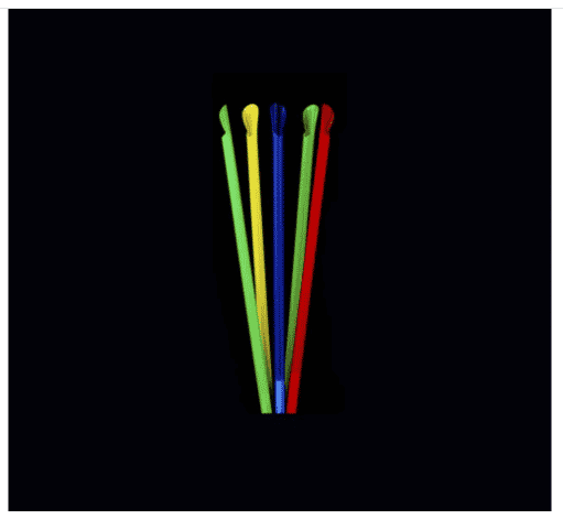 Spoon Straw 8mm Wrapped Mix Color (250 pcs)