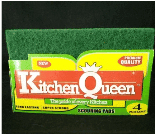 Kitchen Queen Scouring Pads (4 pieces per packet)