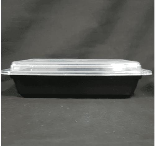 Black rectangular container 32 oz