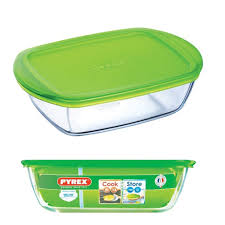 PYREX COOK & STORE RECTANGULAR DISH WITH LID 0.4L 214P000/6146