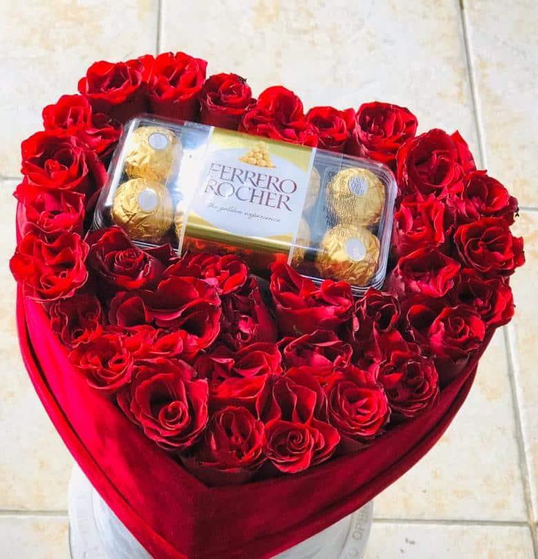 Heart Box With Ferrero