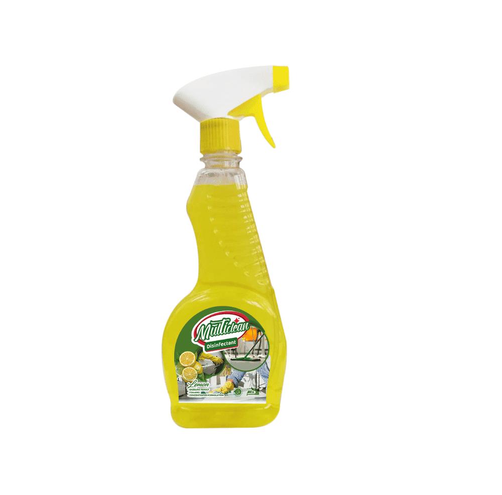 MULTISURFACE DISINFECTANT  500ml (Spray Bottle) -Lemon