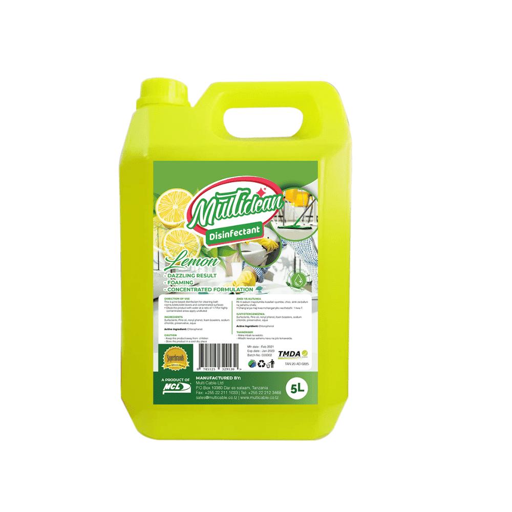MULTISURFACE DISINFECTANT 5L -Lemon