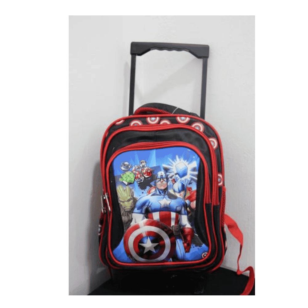 Captain America Trolley School Bag