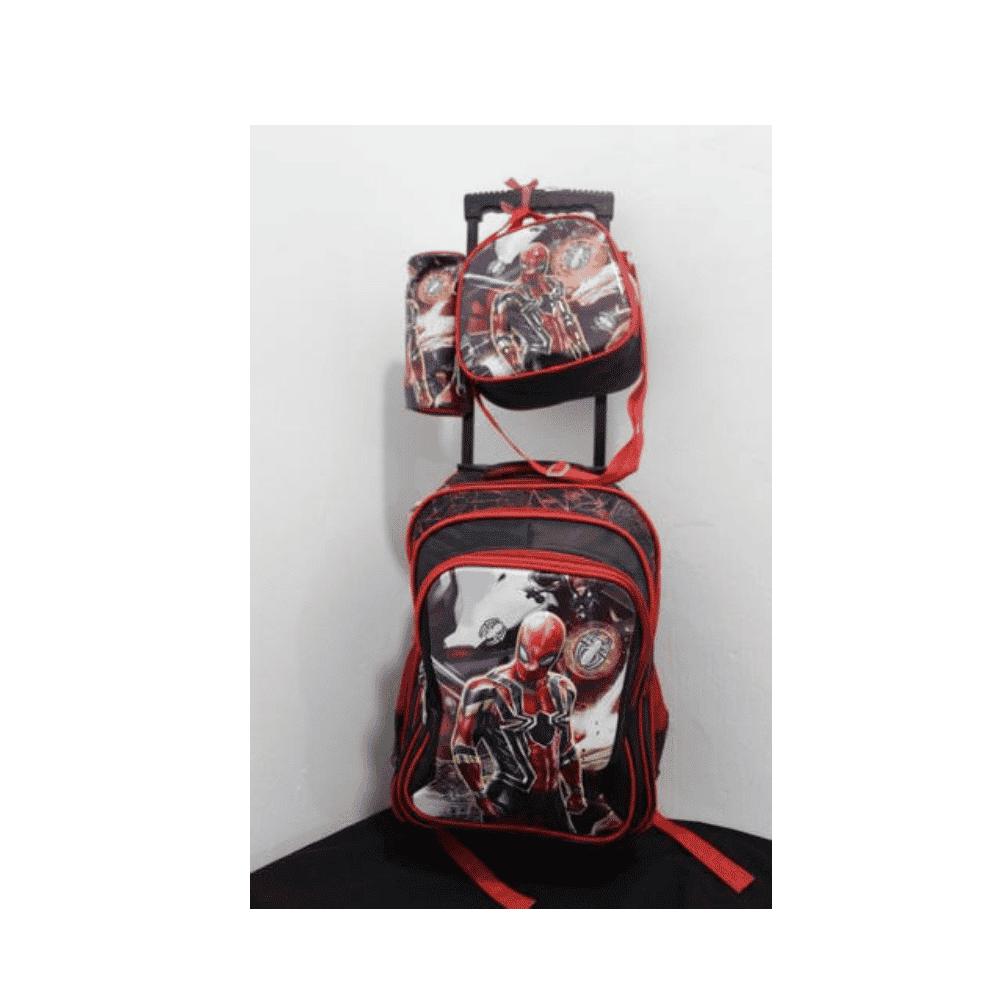 Spider Man School Bag With Trolly