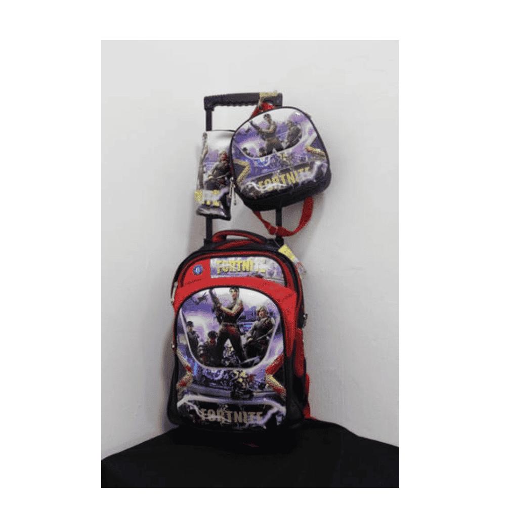Fortnite School Bag With Trolly