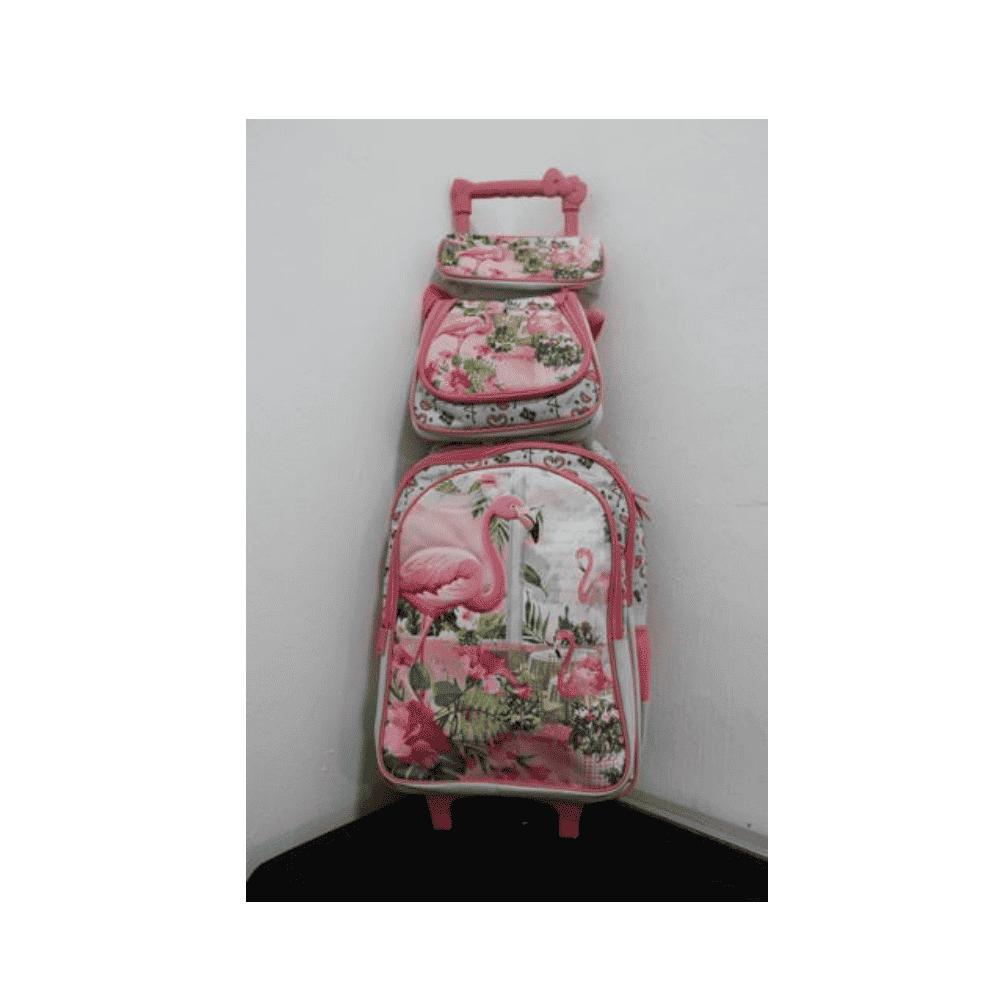 Flamingo School Bag With Trolly