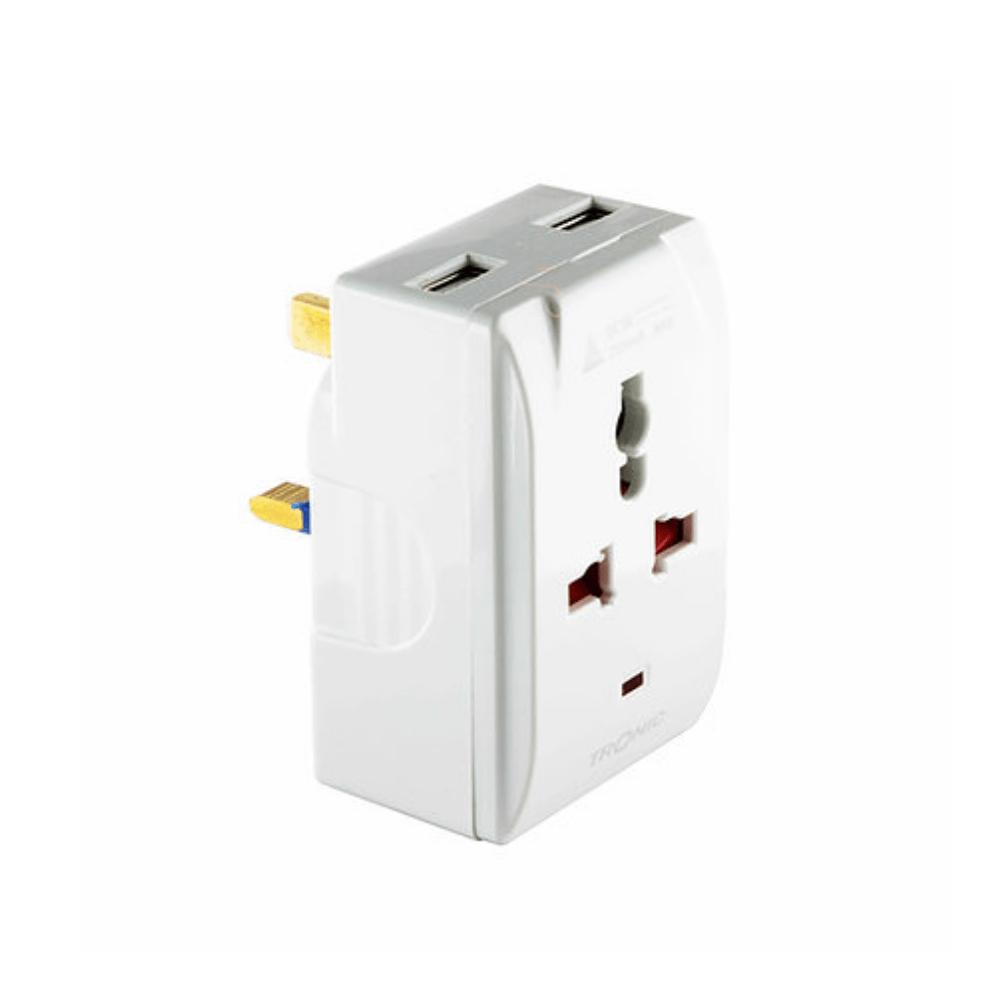 Plug Multi 13A Tronic 3Pin With USB EC 5100-UB