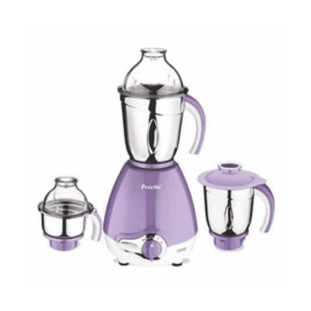Preethi 600W Motor, 3 Jars, 1.5 Ltr Stainless Steel Jar with Pulp Strainer MG184/02