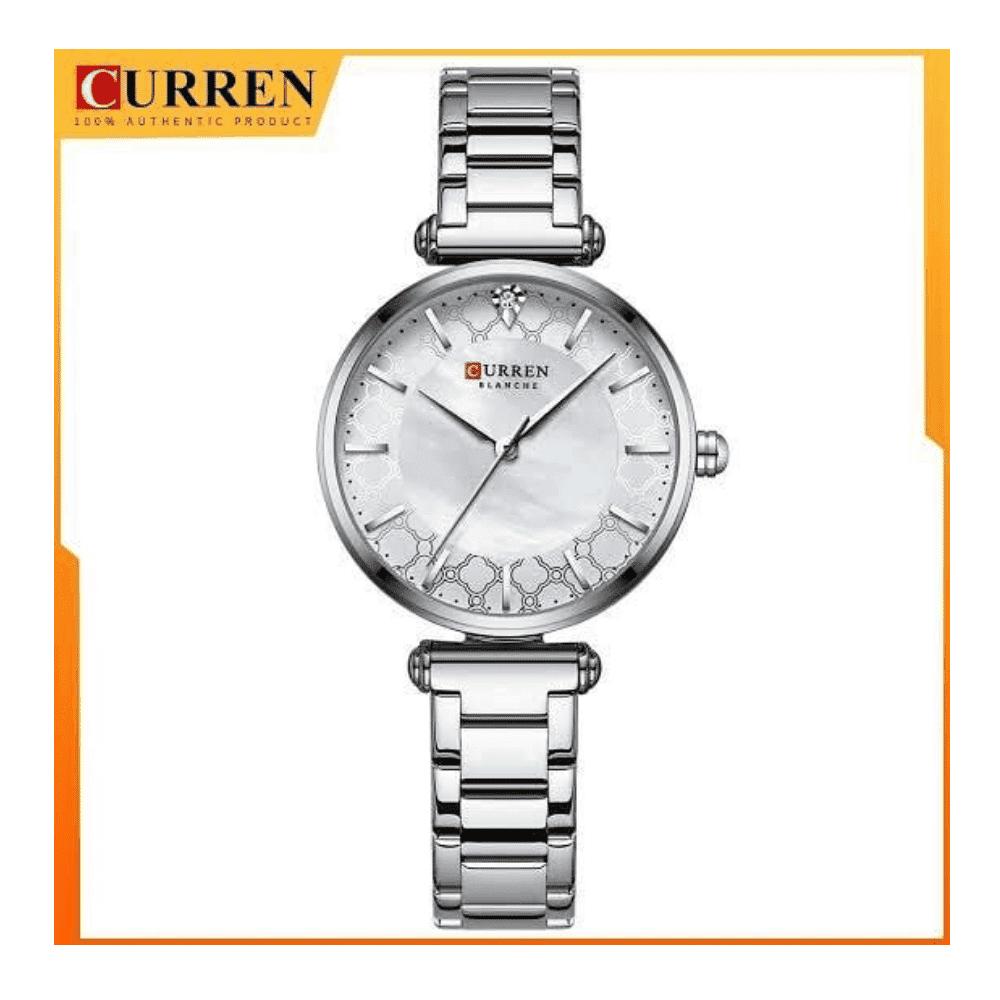 Curren Stainless Steel Strap Watch Ladies Analog Quartz Wristwatch