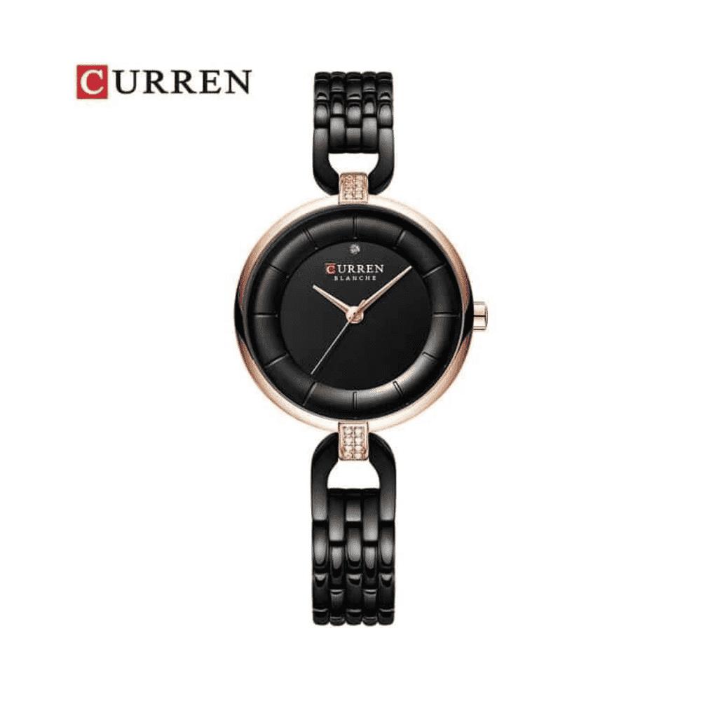 Curren Stainless Steel Watch for Women – Black