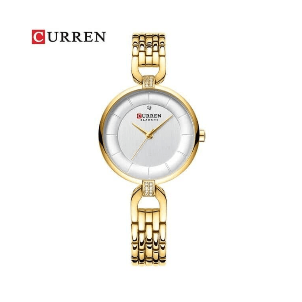 Curren Women's Quartz Watch Gold Bracelet Wristwatch