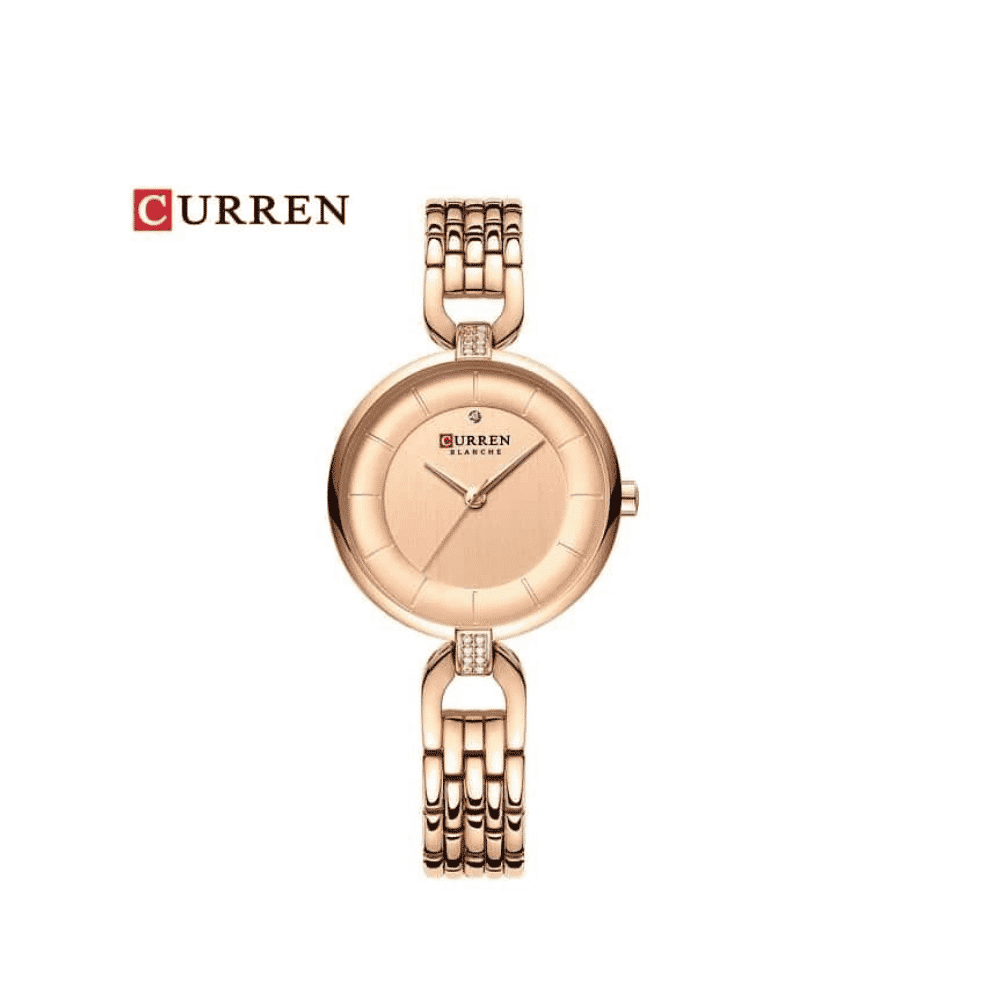 Curren Women Rose Gold for Ladies Wristwatch with Steel