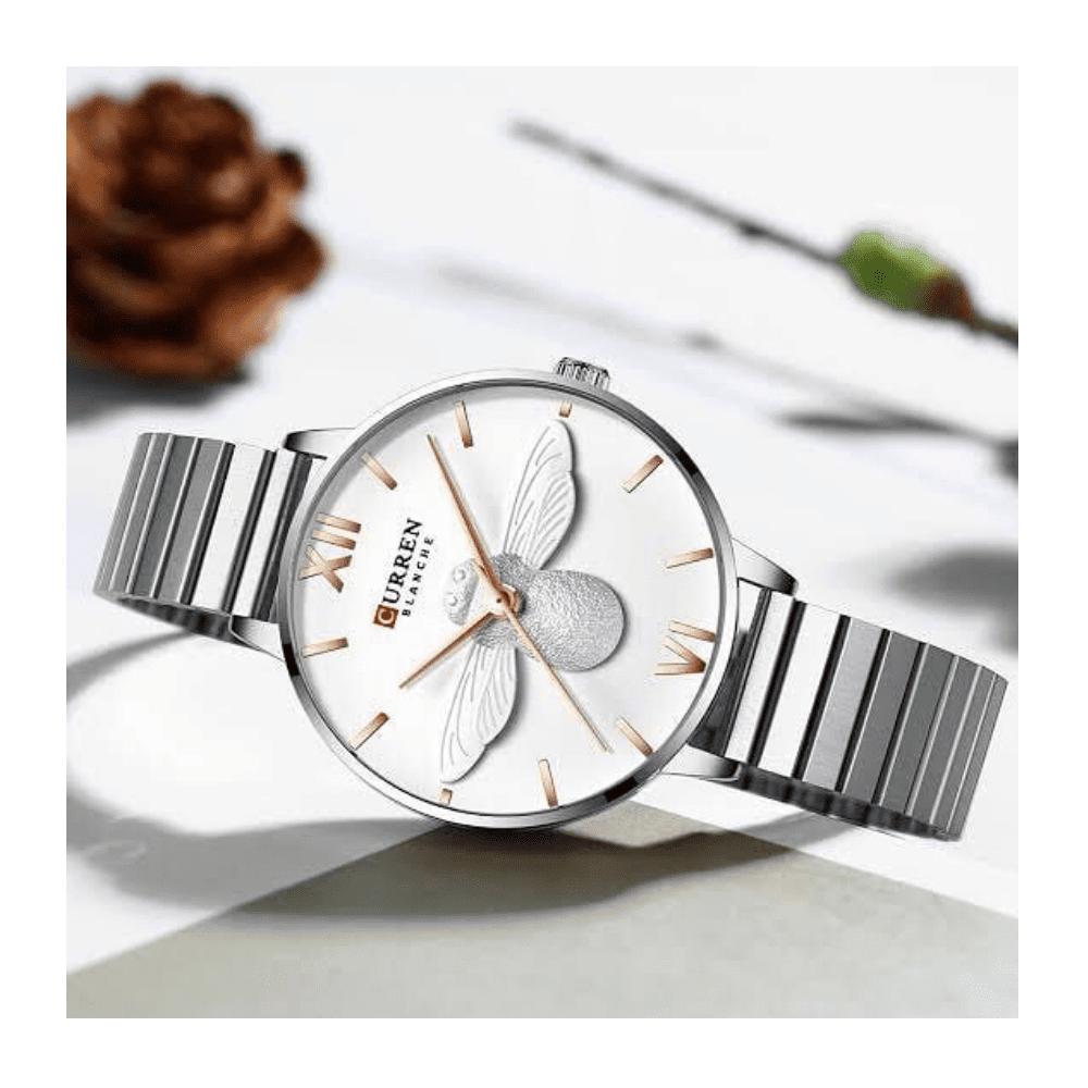 Curren New Fashion Women's Watch- Silver