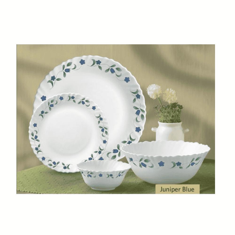 La Opala Dinner Set Flowered Juniper Blue 20 Pieces 0465