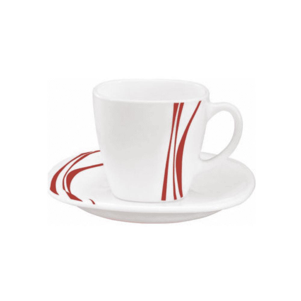 La Opala Cup Saucer 6pcs Set Midnight Red 22cl 0445