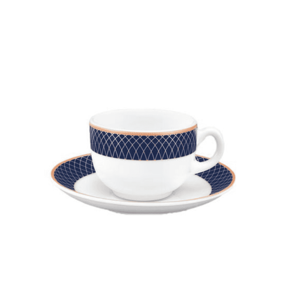 La Opala Cup Saucer 6pcs Set Regent Blue 22cl 0581