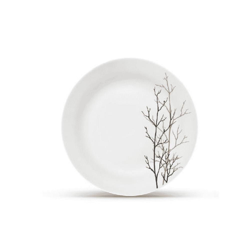 La Opala Dinner Plate 6pcs Flowered Golden Fall Ivory 270mm 0910