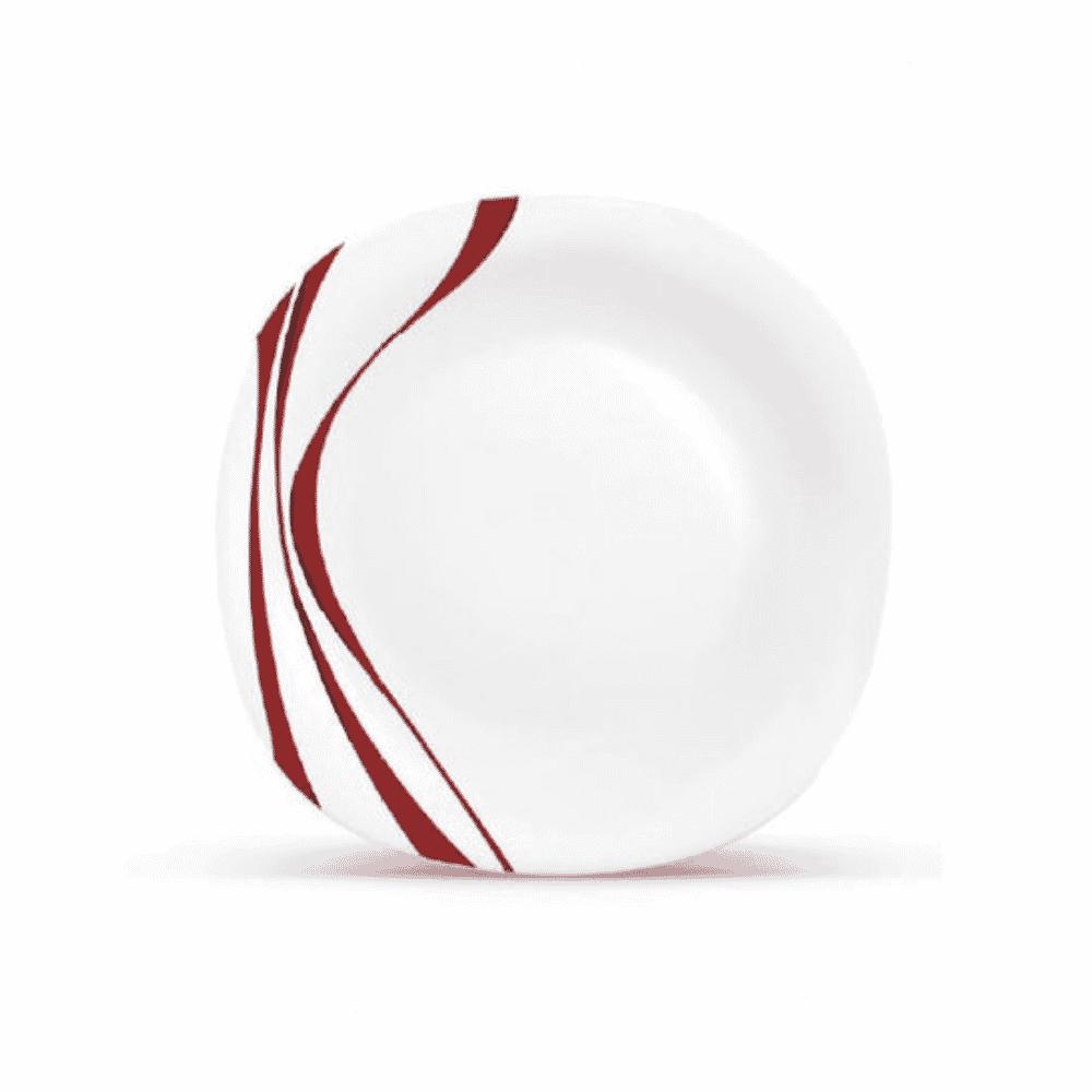 La Opala Dinner Plate 6pcs Flowered Midnight Red 278mm 0455