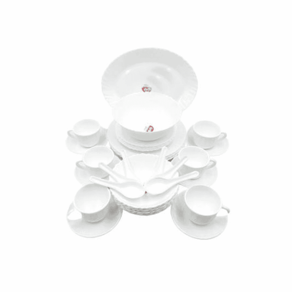 La Opala Dinner Set White 38 Pieces 0333