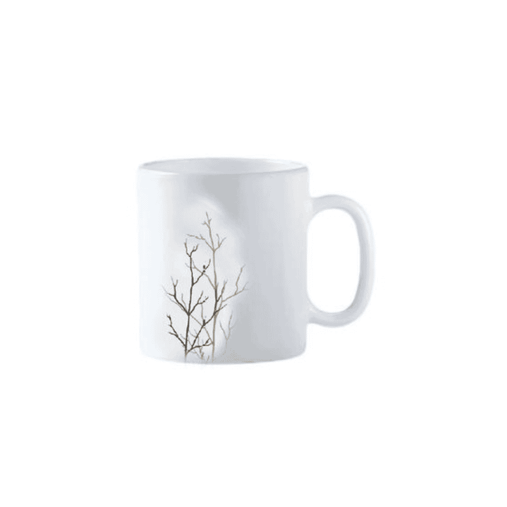 La Opala Mug 6pcs Flowered Golden Fall 320ml 32cl 0918