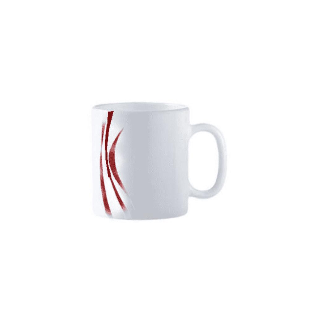 La Opala Mug 6pcs Flowered Midnight Red 32cl 0435