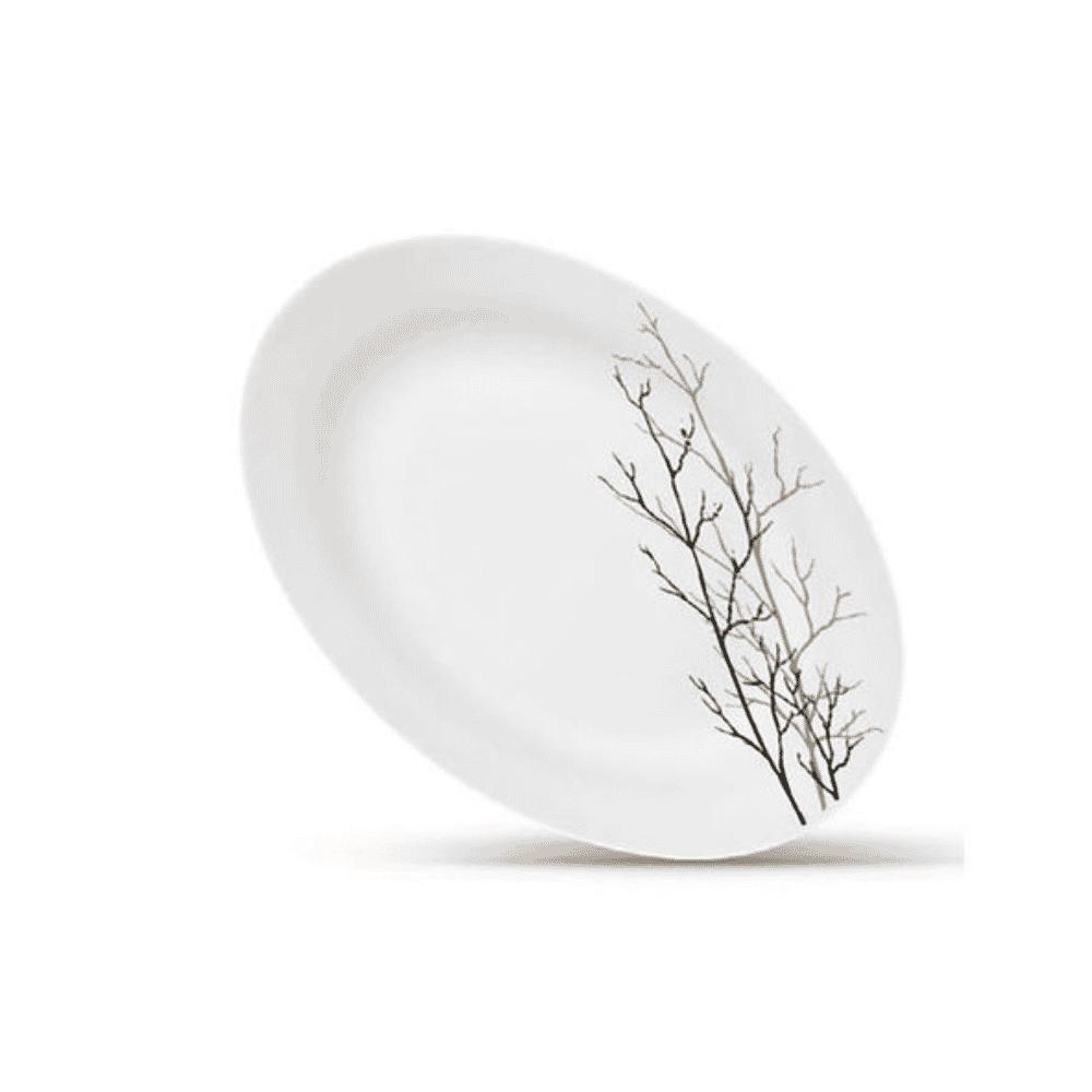 La Opala Oval Plate 1pc Flowered Golden Fall Ivory 320mm 0913