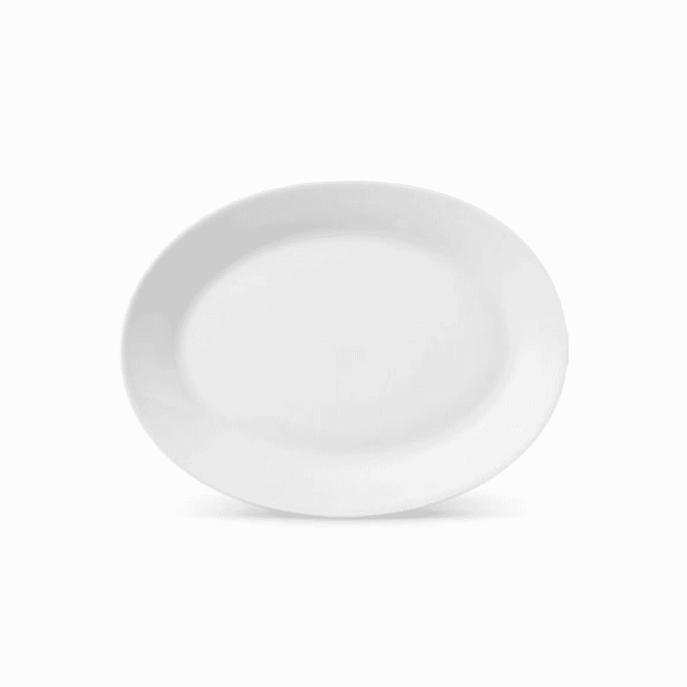 La Opala Oval Plate 1pc Ivory 320mm 0433