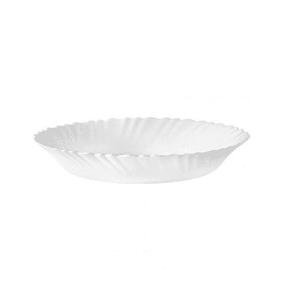 La Opala Oval Round Plate 1pc White 13cm 0224