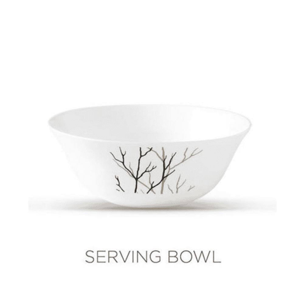 La Opala Serving Bowl 1pcs Flowered Golden Fall Ivory 205mm 0788