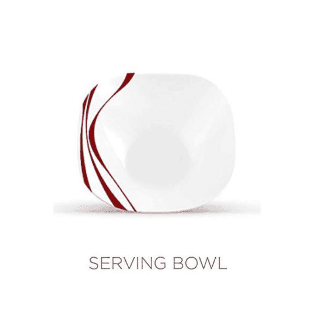 La Opala Serving Bowl 1pcs Flowered Midnight Red 200mm 0415