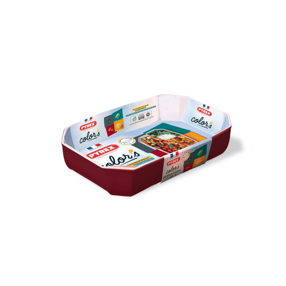 Pyrex Colors Rect Roast Dish 33x22cm Red 295B005
