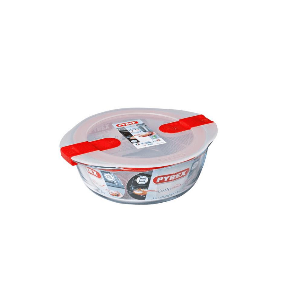 Pyrex Cook&Heat Round Dish +Lid 20x18cm 207PH00/7145